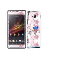 Snooky 39832 Digital Print Mobile Skin Sticker For Sony Xperia Sp M35h C5302 - White