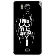 Snooky 40597 Digital Print Mobile Skin Sticker For Micromax Canvas Doodle A111 - Black