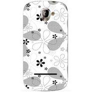 Snooky 40820 Digital Print Mobile Skin Sticker For XOLO A500 - White