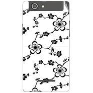 Snooky 40846 Digital Print Mobile Skin Sticker For XOLO A500S - White