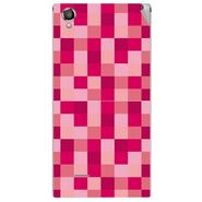 Snooky 40885 Digital Print Mobile Skin Sticker For XOLO A550S IPS - pink