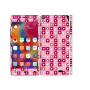 Snooky 41237 Digital Print Mobile Skin Sticker For Gionee Elife 5.1 - Pink