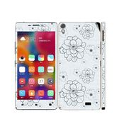 Snooky 41239 Digital Print Mobile Skin Sticker For Gionee Elife 5.1 - Grey
