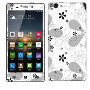 Snooky 41268 Digital Print Mobile Skin Sticker For Gionee Elife E6 - White