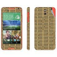 Snooky 41386 Digital Print Mobile Skin Sticker For HTC Desire 610 - Brown