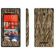 Snooky 41427 Digital Print Mobile Skin Sticker For HTC 8X C620E - Brown