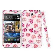 Snooky 41446 Digital Print Mobile Skin Sticker For HTC Desire 616 - White