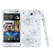 Snooky 41449 Digital Print Mobile Skin Sticker For HTC Desire 616 - Grey
