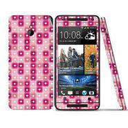 Snooky 41503 Digital Print Mobile Skin Sticker For HTC One mini - Pink