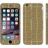 Snooky 41554 Digital Print Mobile Skin Sticker For Apple Iphone 6 Plus - Brown