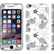 Snooky 41562 Digital Print Mobile Skin Sticker For Apple Iphone 6 Plus - White