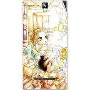 Snooky 41695 Digital Print Mobile Skin Sticker For Lava Iris 504Q Plus - White