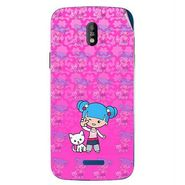 Snooky 41750 Digital Print Mobile Skin Sticker For Lava Iris 450 - Pink