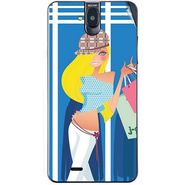 Snooky 41753 Digital Print Mobile Skin Sticker For Lava Iris 550Q - Blue