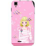 Snooky 41766 Digital Print Mobile Skin Sticker For Lava Iris 405Plus - Pink