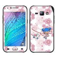 Snooky 41891 Digital Print Mobile Skin Sticker For Samsung Galaxy J1 - White