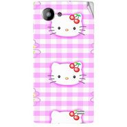 Snooky 41964 Digital Print Mobile Skin Sticker For Intex Aqua HD - Pink