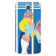Snooky 42003 Digital Print Mobile Skin Sticker For Intex Aqua i6 - Blue