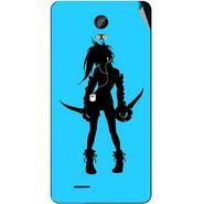 Snooky 42042 Digital Print Mobile Skin Sticker For Intex Aqua Life 2 - Blue