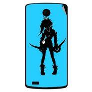 Snooky 42196 Digital Print Mobile Skin Sticker For Intex Aqua Star Power - Blue
