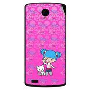 Snooky 42198 Digital Print Mobile Skin Sticker For Intex Aqua Star Power - Pink