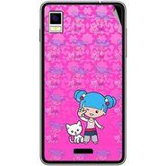 Snooky 42209 Digital Print Mobile Skin Sticker For Intex Aqua Style - Pink