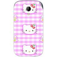 Snooky 42228 Digital Print Mobile Skin Sticker For Intex Aqua T2 - Pink