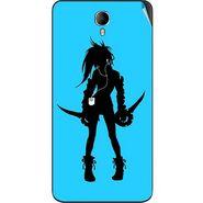 Snooky 42350 Digital Print Mobile Skin Sticker For Intex Cloud M6 - Blue