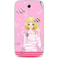 Snooky 42356 Digital Print Mobile Skin Sticker For Intex Cloud Y4 Plus - Pink