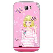 Snooky 42378 Digital Print Mobile Skin Sticker For Intex Cloud Z5 - Pink