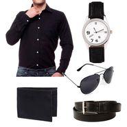 Combo of Premium Casual Shirt + Watches + Belt + Sunglasses + Wallets_Fs914