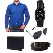 Combo of Premium Casual Shirt + Watches + Belt + Sunglasses + Wallets_Fs915