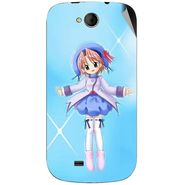 Snooky 46183 Digital Print Mobile Skin Sticker For Micromax Canvas Elanza A93 - Blue