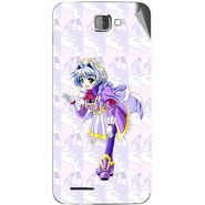 Snooky 46219 Digital Print Mobile Skin Sticker For Micromax Canvas Mad A94 - Purple