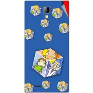 Snooky 46288 Digital Print Mobile Skin Sticker For Micromax Canvas Xpress A99 - Blue