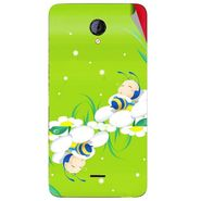Snooky 46427 Digital Print Mobile Skin Sticker For Micromax Unite 2 A106 - Green