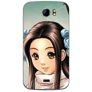 Snooky 46487 Digital Print Mobile Skin Sticker For Micromax Canvas 2 A110 - Multicolour