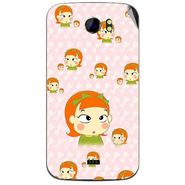 Snooky 46515 Digital Print Mobile Skin Sticker For Micromax Canvas 2 A110 - Orange