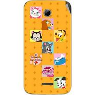 Snooky 46560 Digital Print Mobile Skin Sticker For Micromax Canvas 2.2 A114 - Yellow