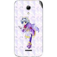 Snooky 46571 Digital Print Mobile Skin Sticker For Micromax Canvas 2.2 A114 - Purple