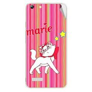 Snooky 46977 Digital Print Mobile Skin Sticker For Micromax Canvas Hue AQ5000 - Pink