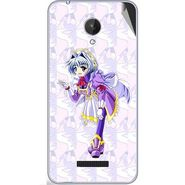 Snooky 47083 Digital Print Mobile Skin Sticker For Micromax Canvas Spark Q380 - Purple