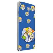 Snooky 47183 Digital Print Mobile Skin Sticker For Xolo A500 Club - Blue