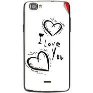 Snooky 47492 Digital Print Mobile Skin Sticker For Xolo One - White