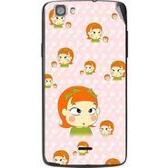 Snooky 47602 Digital Print Mobile Skin Sticker For Xolo Q610s - Orange