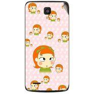 Snooky 47634 Digital Print Mobile Skin Sticker For Xolo Q700 - Orange