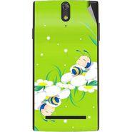 Snooky 47866 Digital Print Mobile Skin Sticker For Xolo Q1020 - Green