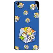 Snooky 47951 Digital Print Mobile Skin Sticker For Xolo Q2000L - Blue