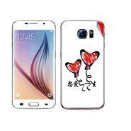 Snooky 48228 Digital Print Mobile Skin Sticker For Samsung Galaxy S6 - White