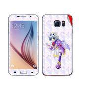 Snooky 48233 Digital Print Mobile Skin Sticker For Samsung Galaxy S6 - Purple